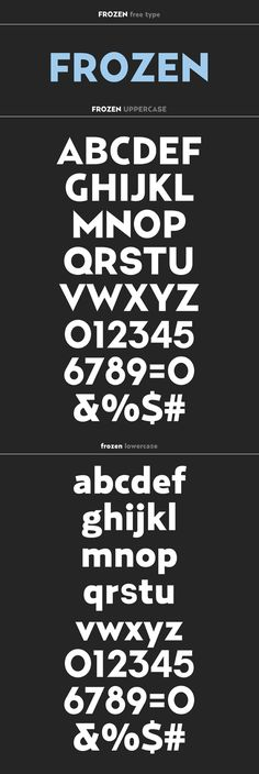 Frozen free type by Ricardo Veloso, via Behance                                                                                                                                                                                 More