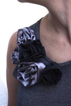 DIY  Make fabric roses