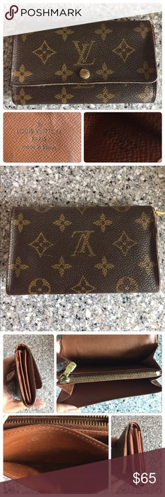 Louis Vuitton Wallet Used and authentic Louis Vuitton wallet. Shows some wear. Please see pix. I don't trade. Stop asking. Louis Vuitton Bags