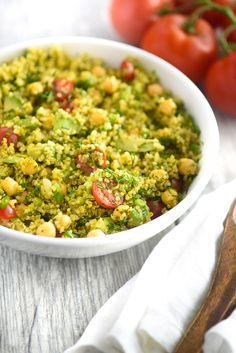 Dill Chickpea Lemon Quinoa Salad - Kimberly Snyder