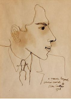 "Jean Cocteau (French, Profil d'homme, 1928 *** ""Interviewer: Suppose your house were on fire and you could remove only one thing. Jean Cocteau: I would take the. Drawing Sketches, Drawings, Jean Cocteau, Bohemian Art, French Artists, Beauty And The Beast, Art Boards, French Style, Portrait"