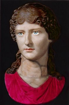 Painted bust of Agrippina the Elder daughter of Marcus Agrippa and Julia; wife of great Roman general Germanicus. Agrippina was exiled and same say assasinated. Ancient Rome, Ancient Art, Ancient History, Roman Sculpture, Sculpture Art, Zeus Statue, Athena Goddess, Roman History, Roman Emperor