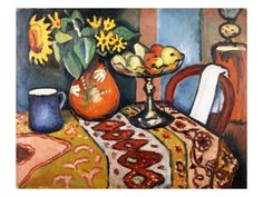 Still Life with Sunflowers II Giclee Print by August Macke