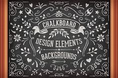 Chalkboard Design Elements by Swedish Points on Creative Market