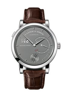 A. Lange & Sohne 31- this latest iteration of the Lange 31 — the first and still only mechanical timepiece with a power reserve lasting an entire month — is limited to 100 pieces.  Its round, white-gold case measures 45.9 mm in diameter and 15.9 mm thick and contains the manual-wound Caliber L034.1.  More @ http://www.watchtime.com/watch-to-watch/power-packed-a-lange-sohne-lange-31-in-white-gold/ #watchtime #alangesohne #luxurywatches #SIHH2017