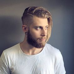 Side Part Long Top Undercut For Men