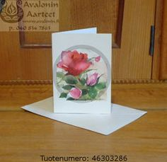 Minna Immonen rose card / Minna Immosen ruusukortti Flower Cards, Rose, Illustration, Flowers, Decor, Decorating, Illustrations, Floral, Roses
