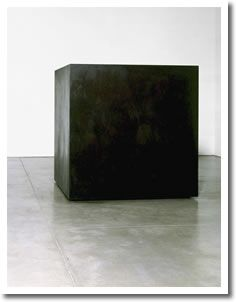"The form of Die, a large black box, was inspired by an index card file, but its scale (72 x 72 x 72 inches) and fabrication were a response to an advertisement for the Industrial Welding Company in Newark, New Jersey, which read: ""You specify it: we fabricate it."" The dimensions, according to Smith, were determined by the human body, as in da Vinci's drawing of the Vitruvian man, whose outstretched arms and legs are inscribed within a circle and a square. Thus Die is neither momunent nor…"