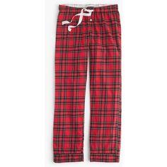 J.Crew Classic Tartan Pant ($65) ❤ liked on Polyvore featuring intimates, sleepwear, pajamas, flannel pj pants, plaid flannel pajamas, j.crew, plaid pj pants and plaid pajamas