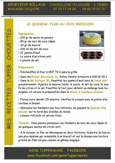 Recette Tupperware Tupperware Recipes, Gluten Free Baking, Food Illustrations, Mousse, Stampin Up, Caramel, Dessert Recipes, Cooking, Mimosas