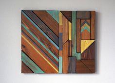 Modern Wood Wall Art by RusticWarmthDecor on Etsy https://www.etsy.com/listing/187747509/modern-wood-wall-art