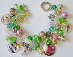 Mother's Day Spring Charm Bracelet Handmade