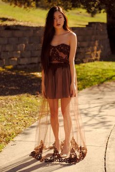 diy dress. i would shorted the tool/lace maybe even make it high to low