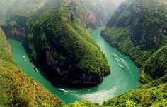 Yangtze Nehri, Çin'de bend
