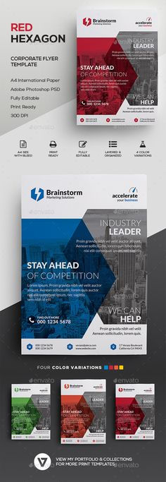 Stylish Corporate Business Flyer Template PSD