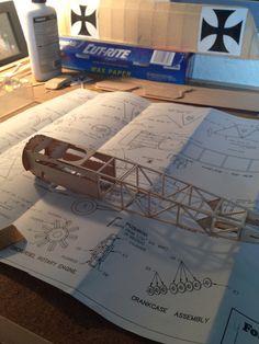 My balsa wood Eindecker Elll