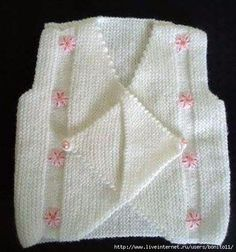 How to tutorial knitting and crochet baby pattern free Baby Sweater Knitting Pattern, Baby Knitting Patterns, Knitting Designs, Baby Patterns, Free Knitting, Loom Crochet, Gilet Crochet, Crochet Baby, Crochet Edging Patterns