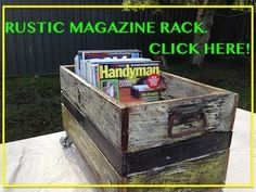 Awesome Rustic Magazine Rack. Another Cool Pallet Wood / Fence Paling Pr...