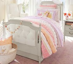 Blythe Tufted Bed & Headboard | Pottery Barn Kids