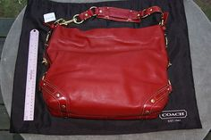 Authentic Coach Hobo bag Red Leather