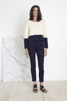 Apiece Apart FW15 | Cropped Colorblock Sweater