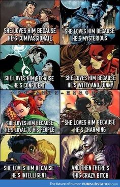 and then there's Harley Quinn and the Joker. Here is some pretty awesome Joker and Harley Quinn framed artwork to decorate your walls. Comic Book Characters, Comic Character, Comic Books, Heros Comics, Marvel Dc Comics, Harley Quinn Et Le Joker, The Wicked The Divine, Hq Dc, Univers Dc