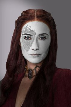 Game of Thrones. Melisandre, The Red Woman, House War Paint by HilaryHeffron