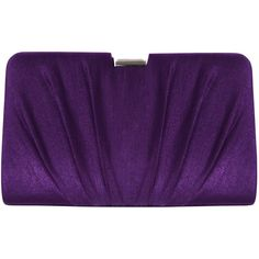 Alexon Shimmer Pleated Clutch Bag, Purple ($71) ❤ liked on Polyvore
