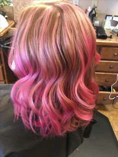 Pink hair don't care! This is so beautiful we highlighted and then added the Viral shampoo over the top to get beautiful pink