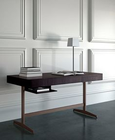 Nella Vetrina Casa Milano Ernest Luxury Italian Desk in Ebony