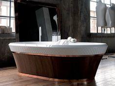 Freestanding Ceramilux® bathtub George Collection by FALPER | design Michael Schmidt, Falper Design