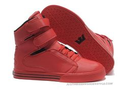 competitive price d5a20 44aae Supra TK Society Red Mens High Tops Justin Bieber Shoes, Michael Jordan  Shoes, Supra