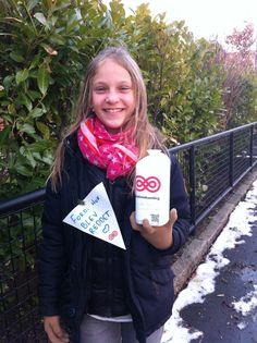Indsamling med datteren :-) #Landsindsamlingen #Visflaget