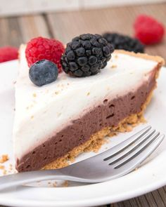 Skinny Double Chocolate Pie | Fitness Food Diva