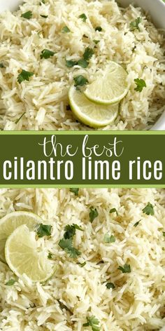 Cilantro Lime Rice | Side Dish Recipe | Rice | Cilantro lime rice is the perfect side dish, for burritos, nachos, or even a taco salad. So many options! Delicious toasted rice is cooked to perfection in a flavorful chicken broth full of spices, cilantro and lime. This is the best cilantro lime rice and turns out perfect every single time. #sidedish #sidedishrecipe #mexicanfood #cilantrolimerice