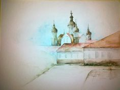 watercolor paintig, Supraśl