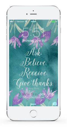 Every Day Spirit Lock Screens is an app of more than 600 beautiful handmade wallpapers that inspire you every time you look at your phone. Easy. Awesome sayings. Bright colors. For iPhone and Android. www.everydayspirit.net xo