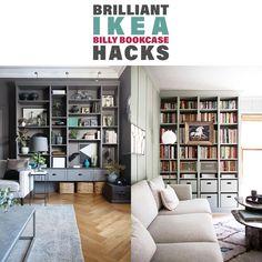 67 trendy home furniture ideas ikea hacks billy bookcases Ikea Craft Storage, Ikea Storage Units, Craft Storage Furniture, Home Furniture, Furniture Ideas, Tv Storage, Record Storage, Food Storage, Ikea Built In