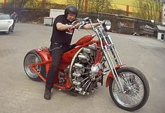 King of All Motorcycles: Red Baron Bike is Powered by an Airplane Engine