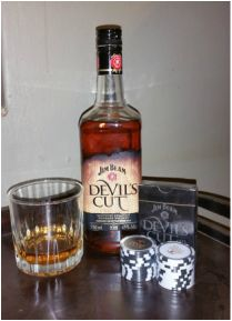 """No age statement Bourbon 750 ml ABV It's clever marketing, this """"Devil's Cut"""" business. Sure, we are told that it's a new and revolutionary way to retrieve some of the product lost to the aging. Jim Beam, Bourbon, Whiskey Bottle, Beams, Devil, Liquor, Clever, Lost, Age"""