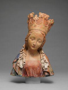 Bust of the Virgin, made in Bohemia, c.1390-95 (source). Met Museum