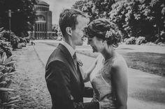 Nadine & Dominik - Hochzeitsfotos im Stadtpark Hamburg vorm Planetarium, Juni 2016