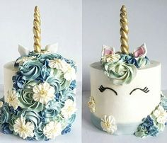 If I ever have a girl, I really hope she wants this as a birthday cake. Unicorn themed birthday party or baby shower cake.