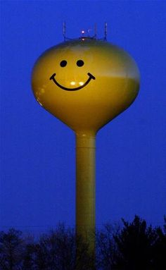 water towers with smiley faces - Bing Images
