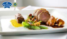 Noisette of Scotch Lamb, crisp belly, Balquhidder chanterelle, balsamic vinegar and sherry gravy recipe by professional chef Tom Lewis