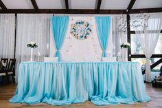 Небесный голубой, оформление свадьбы в Черкассах