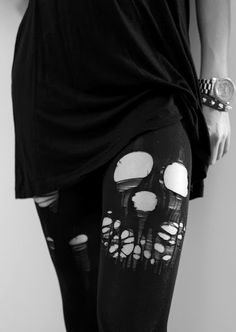 ripped tights grunge - Google Search