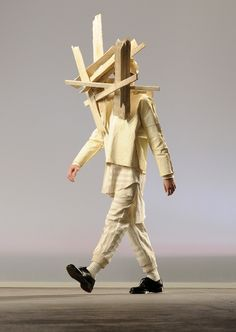 Got wood? Oh we can so help you with that! Mens Fashion Show In London Includes Black Face Paint, Driftwood & Dogs