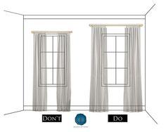 Hanging Drapes how to hang drapes | drapery panels, illusions and hang curtains
