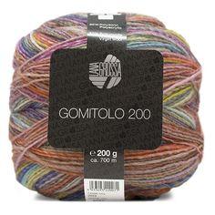 Lana Grossa Collino 8 rot//marine//senf 50 g Wolle Kreativ Fb